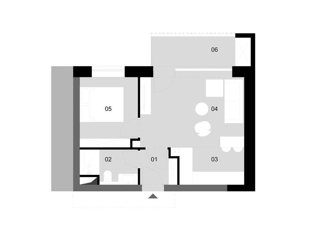 A – épület / 1. emelet/ 1. lakás