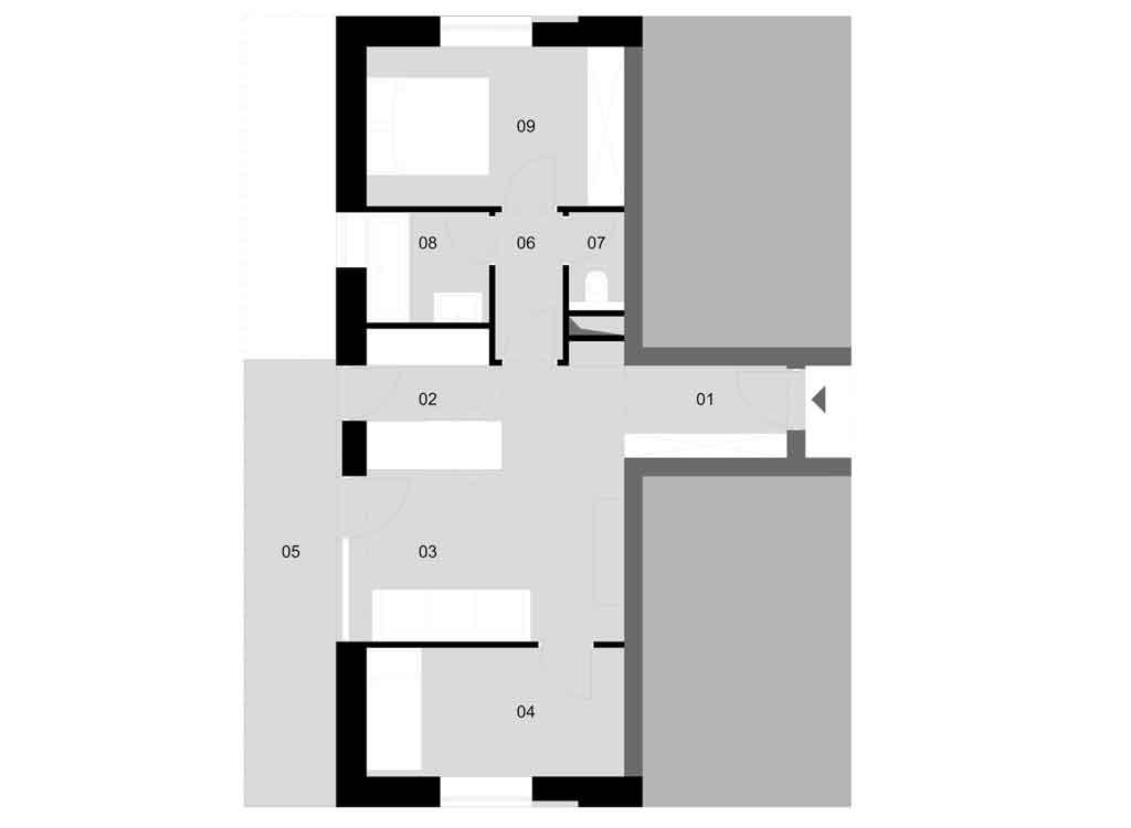 A – épület / 1. emelet / 3. lakás